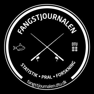 Fangstjournal logo hvid